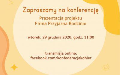 Zapraszamy nakonferencję 29.12.2020